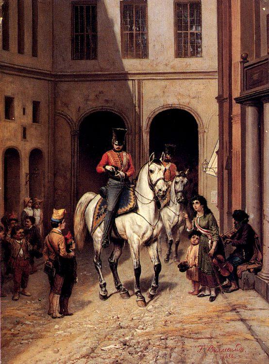 Charitable Offerings :: Bogdan Pavlovich Villevalde - History painting фото