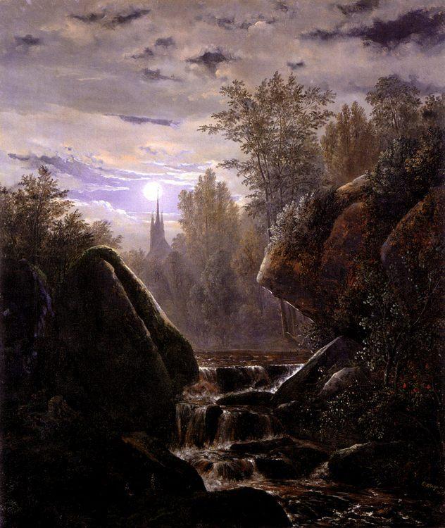 A Moonlit Night :: Carl Wagner - Night landscapes ôîòî