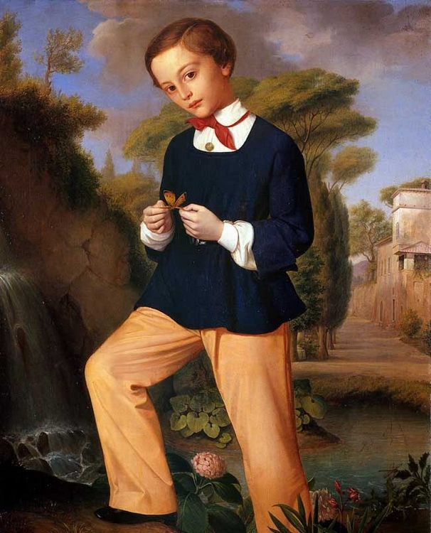 Portrait of a Boy from a Lombard noble family :: Carlo Zatti - Portraits of young boys фото