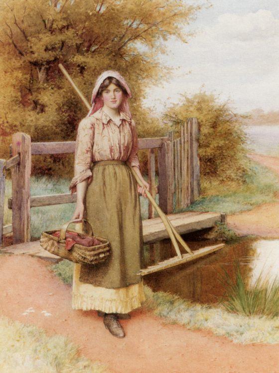 On The Way to the Hayfield :: Charles Edward Wilson - 8 female portraits hall ôîòî