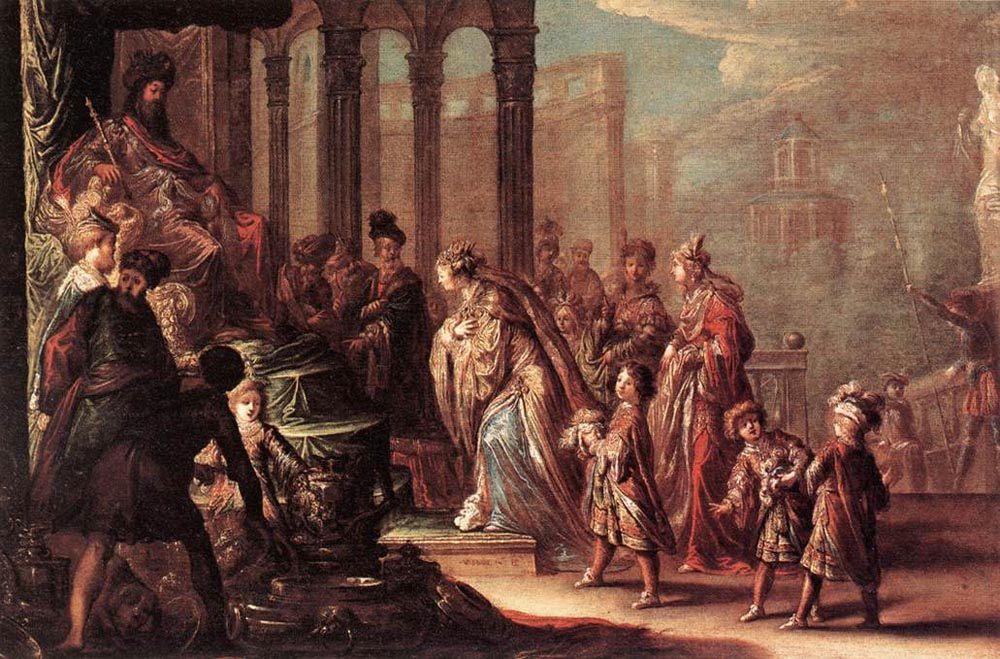 Esther before Ahasuerus :: Claude Vignon  - Bible scenes in art and painting ôîòî