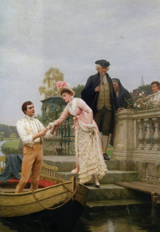 Lay Thy Sweet Hand In Mine and Trust in Me :: Edmund Blair Leighton  - Romantic scenes in art and painting фото