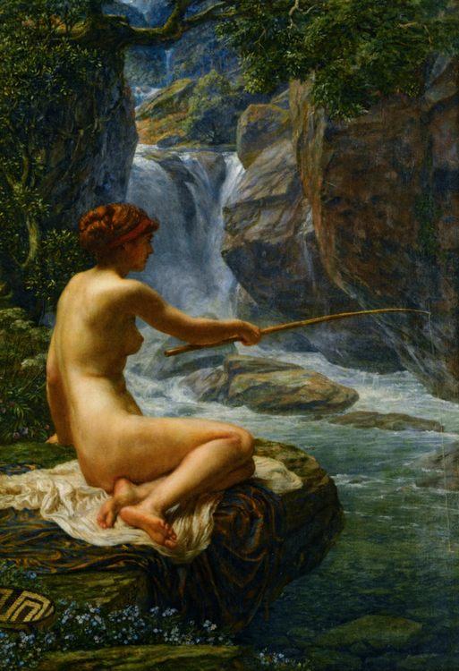 The Nymph of the Stream :: Edward John Poynter - Fishing scenes фото