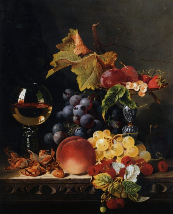 Still life with wine goblet :: Edward Ladell - Still-lives with fruit ôîòî