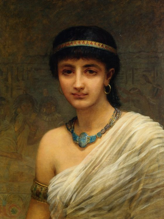 A Votary of Isis :: Edwin Longsden Long - Antique beauties in art and painting фото