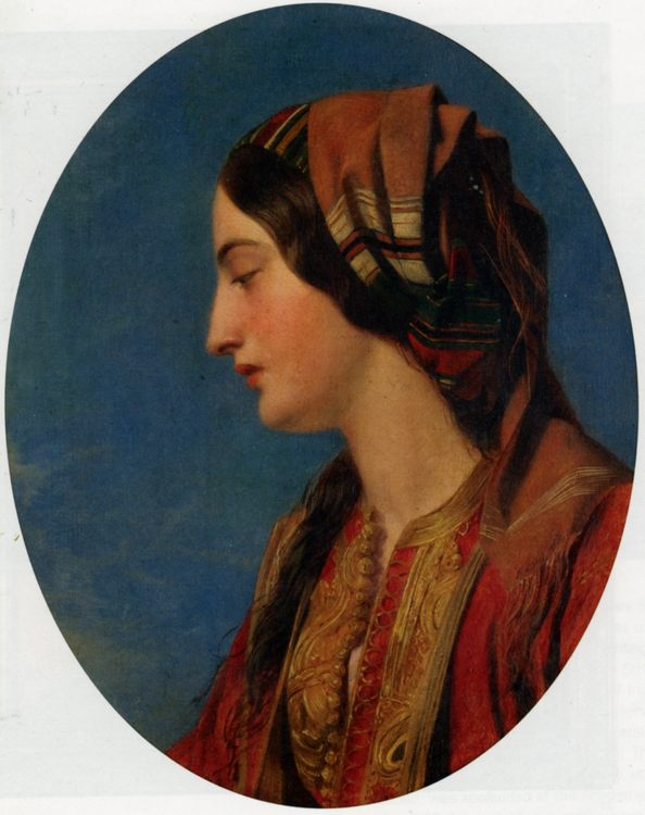 Head of an Eastern Beauty :: Henry Nelson O'Neil - 6 woman's portraits hall ( The middle of 19 centuries ) in art and painting ôîòî