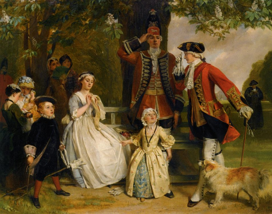 The Unwilling Salute :: John Callcott Horsley - Romantic scenes in art and painting фото