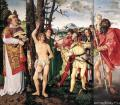 user art painting gallery - The altar of St. Sebastian, a triptych :: Hans Baldung